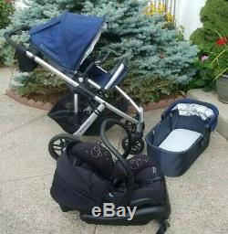 Uppababy Vista Stroller, Rumble Seat, Bassinet, Maxi-Cosi Car Seat & Base Extras