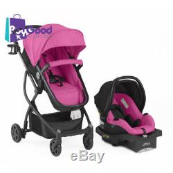 Urbini Omni 3 in 1 Travel System Baby Stroller And Car Seat Combo Toddler Pink