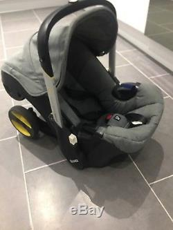 Used doona car seat stroller storm grey excellent condition