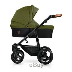 Venicci Gusto Khaki 3 in 1 Package Pushchair Carrycot Car Seat & accessories